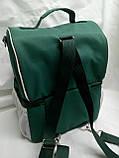 Ланч бокс Dolphin, термосумка - рюкзак для їжі, ланч бег, терморюкзак для обіду, сумка холодильник. Зелений, фото 5
