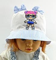 Детская панамка 46 и 48 размер для девочки детские панамки головные уборы хлопок панама, фото 1