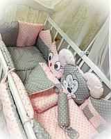 Постельный набор в кроватку для новорожденого   ТМ Бонна Звери