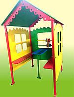 """Детский домик-беседка """"Кроха"""" со счетами, скамейками и столиком."""