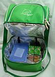 Ланч бокс, термосумка - рюкзак для еды, ланч бэг, терморюкзак для обеда, сумка холодильник. Салатовый, фото 2