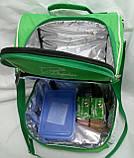 Ланч бокс, термосумка - рюкзак для еды, ланч бэг, терморюкзак для обеда, сумка холодильник. Салатовый, фото 3