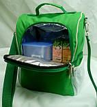 Ланч бокс, термосумка - рюкзак для еды, ланч бэг, терморюкзак для обеда, сумка холодильник. Салатовый, фото 4