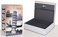 Книга-сейф MK 1847-1 (Eiffel Tower) с замком, металл, микс видов, в кульке, 26,5-20-6,5см (Италия)