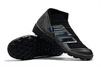 Футбольные сороконожки adidas Nemeziz Tango 18+ TF Core Black/Utility Black, фото 1