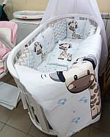 Постельный набор в кроватку для новорожденого   Тедди