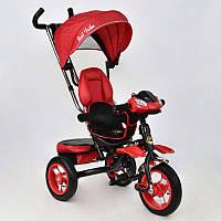 Велосипед 3-х колёсный 6699 Best Trike (1) КРАСНЫЙ, надувные колёса, поворотное сидение, фара, ключ зажигания