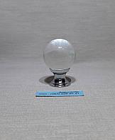 Ручка  мебельная шар хрустальный 30мм хром
