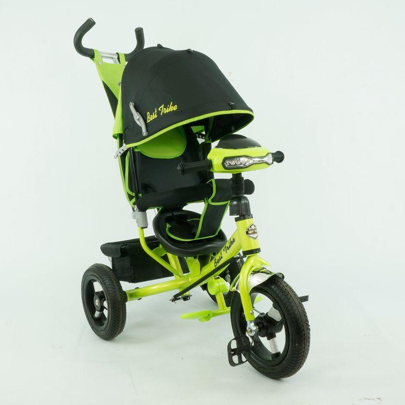 Велосипед 3-х колёс. 6588 В Best Trike (1) САЛАТОВЫЙ, НАДУВНЫЕ КОЛЕСА d=29см. переднее, d=26см. задние,ФАРА, КЛЮЧ ЗАЖИГАНИЯ