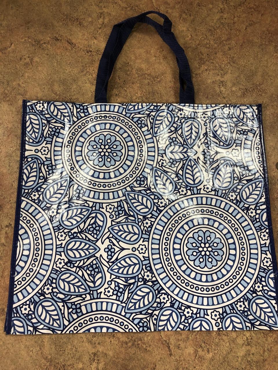 Сумка полипропиленовая с ручками ''Орнамент синий'', 50х45 см