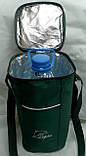 Термосумка - холодильник Dolphin для напоїв. Темно - зелена, фото 2