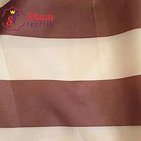 Палаточная ткань оксфорд 210D -110 г/м² бежевый с коричневым