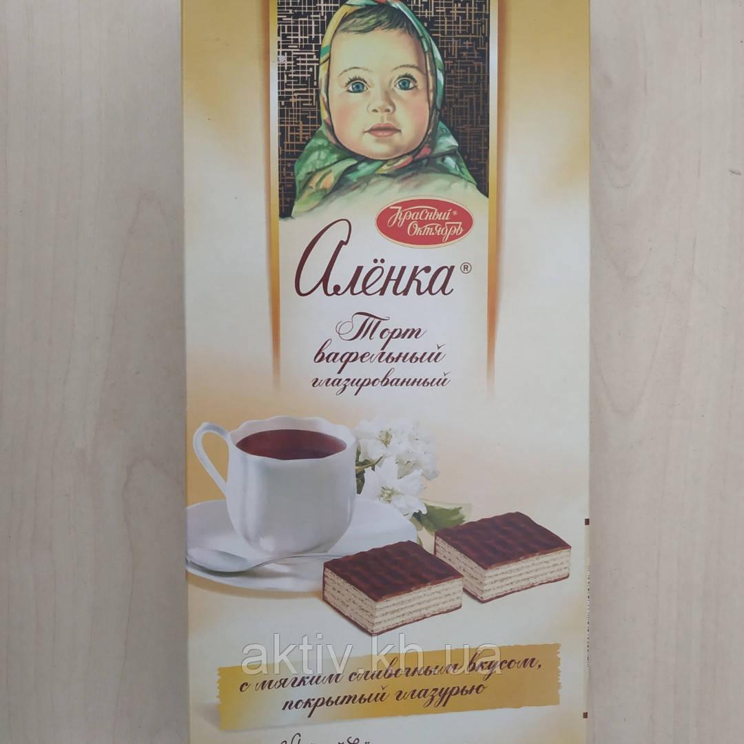 Вафельные торт Алёнка в шоколаде 250гр