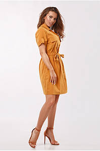 Платье с кулисой Бежевое