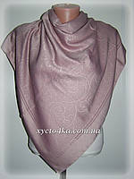 Двусторонний шелковый платок Хамелеон, пудра