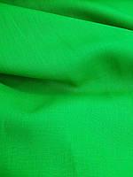 "Льняная костюмная ткань ""Сочный зеленый"""