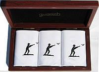 Комплект мужских носовых платков Guasch Art box 50 CAZ, Цвет - белый|черный