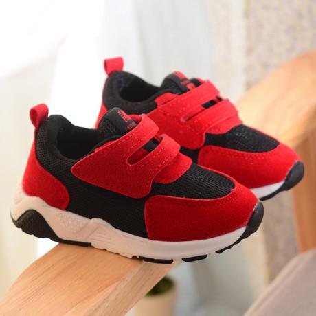 Кроссовки детские  текстильные красно-черные 21 р. унисекс