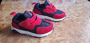 Кроссовки детские  текстильные красно-черные 21 р. унисекс, фото 2