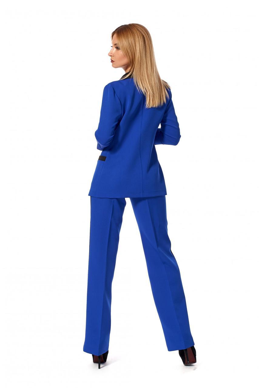 abcbe607d ... фото Однотонный женский костюм с брюками электрик размер 42,44,46,48,  фото