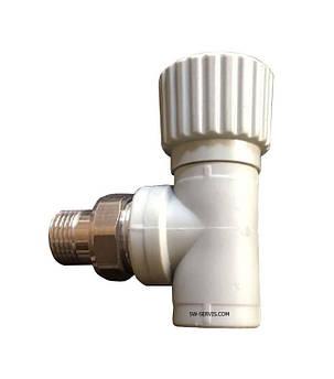 Вентиль ппр для радиаторов угловой ду25*3/4.