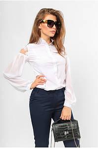 Блуза нежная классическая Белая