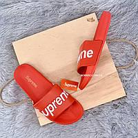 Шлепанцы, тапки, сланцы унисекс - Supreme Red, фото 4