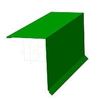 Планка карнизная длина изделия (2м) RheinSTAHL GmbH Polyester; (глянец) Zn 225 г/м.кв., толщина 0,45