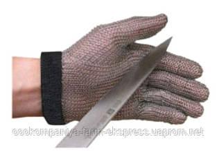 Рукавиця кольчужна 5-пала Niroflex 2000 з відворотом 7.5cм намагнiчена,розмір L