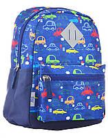 Рюкзак детский 1 Вересня K-19 Cars 24.5х20х11 Синий (555310qw)