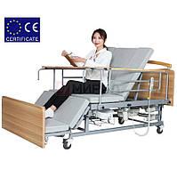 Медицинская электро кровать с туалетом  Е04. Функциональная кровать для инвалида.