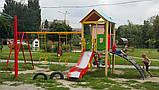 """Детский игровой комплекс """"Дом с качелями 2"""" 1200, фото 5"""