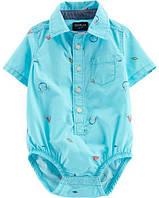 Детская боди-рубашка для мальчика  6, 9, 12, 18, 24 месяца, фото 1