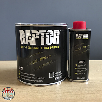 Грунт эпоксидный антикоррозийный U-POL RAPTOR™ 4:1, 1 литр комплект
