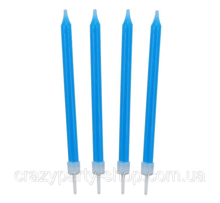 Свечи для торта голубые 8, 6 см