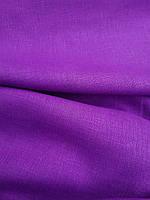 Льняная костюмная ткань фиолетового цвета, фото 1