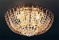 Люстра хрустальная для зала, спальни на 6 лампочек