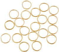 Кольца для косичек STARLOOK 10 шт золотые 10 мм