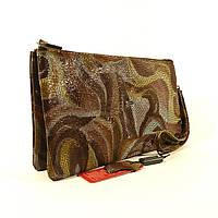 Кожаный клатч Desisan 070 коричневый, расцветки в наличии
