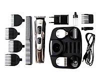 Многофункциональный триммер-электробритва-машинка для стрижки Gemei 10 в 1 Черный (1439)