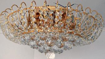Люстра хрустальная для зала, спальни большая на 12 лампочек  0331/12
