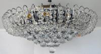 Люстра хрустальная для зала, большой гостиной на 12 лампочек