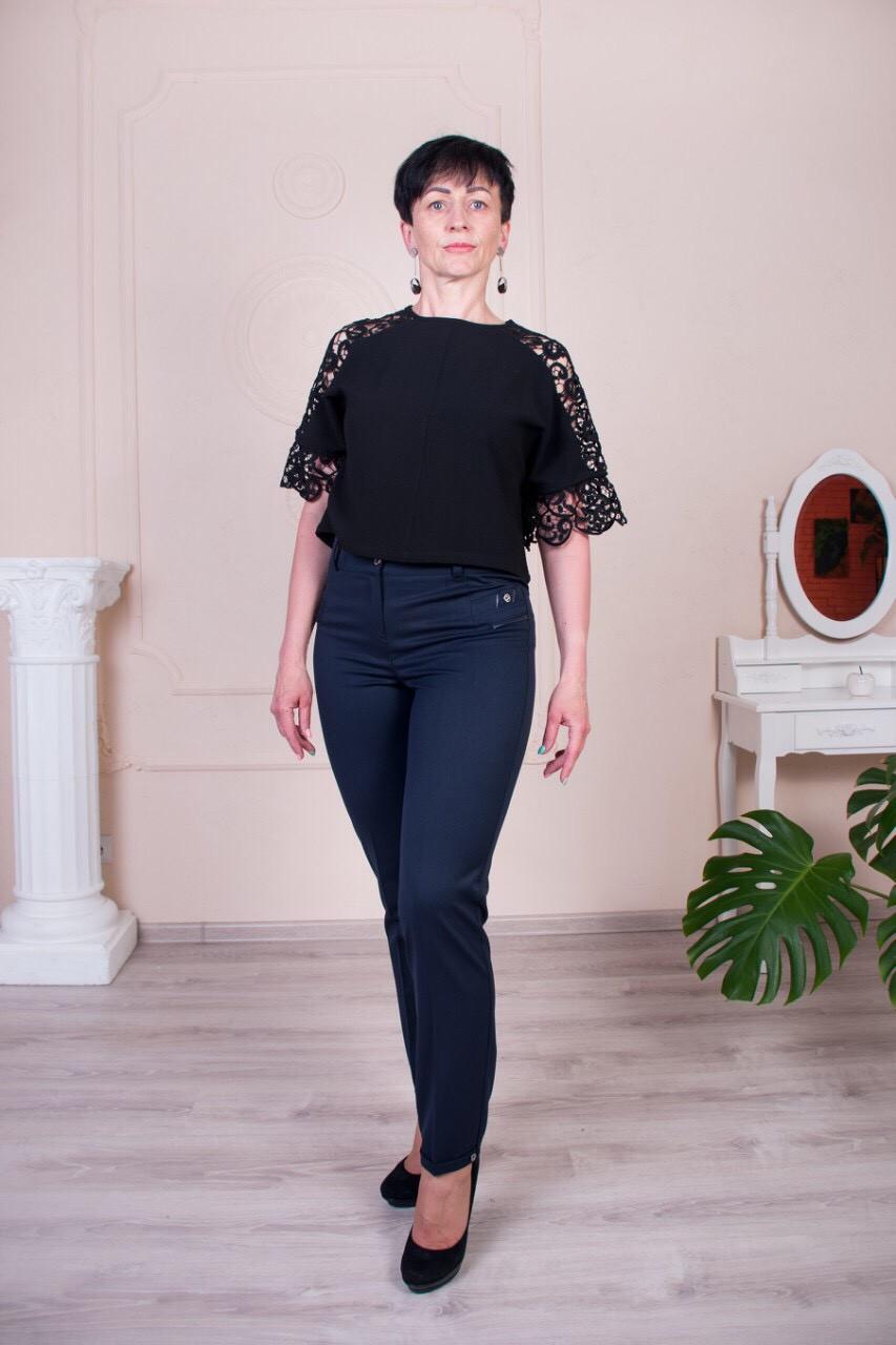 Укороченные женские брюки Молли синие