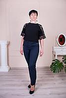 Укороченные женские брюки Молли синие, фото 1