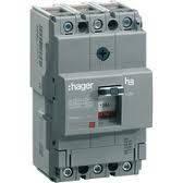Автоматический выключатель x160, In=25А, 3п, 18kA, Тфикс./Мфикс. Hager (HDA025L)