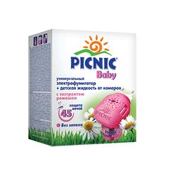 Picnic Baby электрофумигаторы + жидкость от комаров 30 мл. (45 ночей) код 118