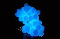 """Светящийся шар с гелием, цвет голубой, размер 12"""" (30 см)"""