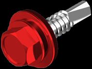 Винт самосверлящий TEX с шайбой EPDM,окрашенный RAL (для дерева)