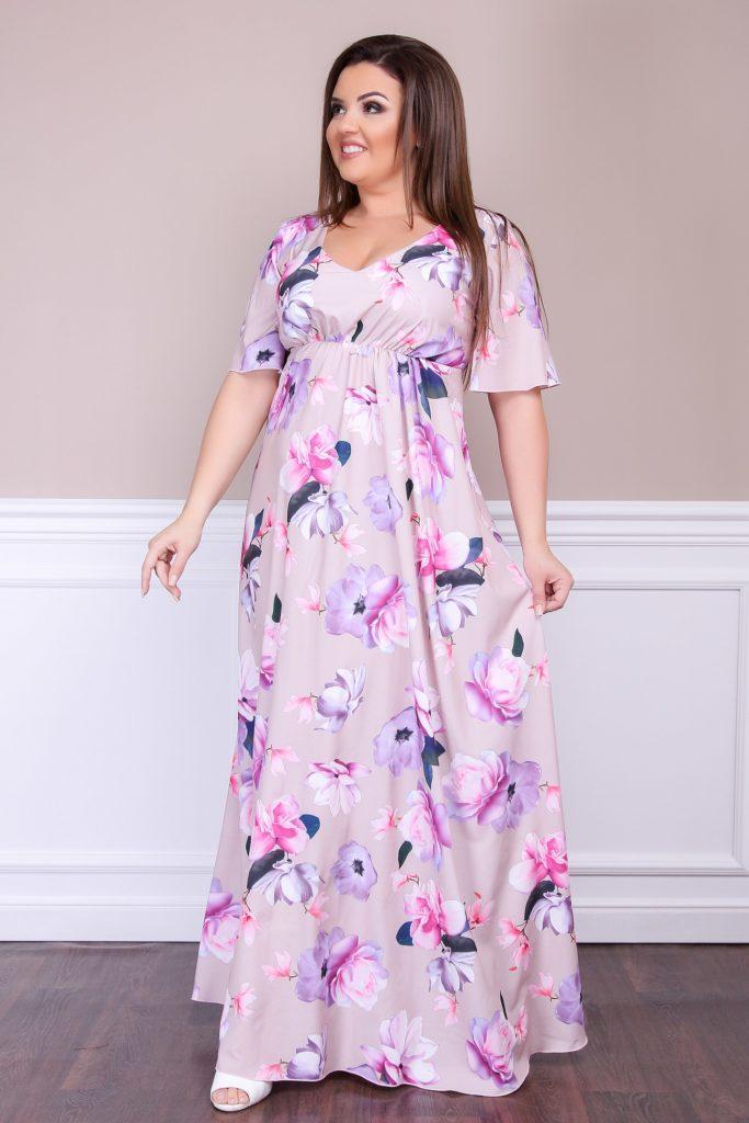 Женское платье ФЕЯ бежевое 8253