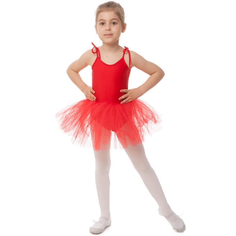 bf8d38634971b Купальник для Танцев с Пышной Юбкой Полупачкой Детский Lingo (р-р S ...